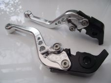 Ducati 848/EVO (07-13), CNC levers short silver/chrome adjusters, F11/H11